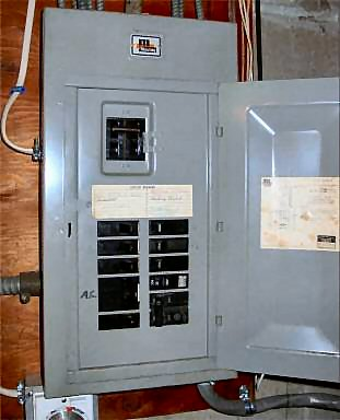Tripped Circuit Breaker and Panel Box